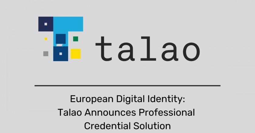 European Digital Identity: Talao Announces Professional Credential Solution